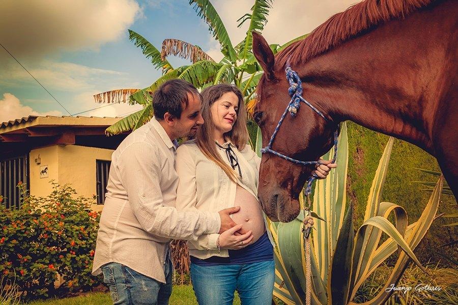 fotos premama originales con caballos