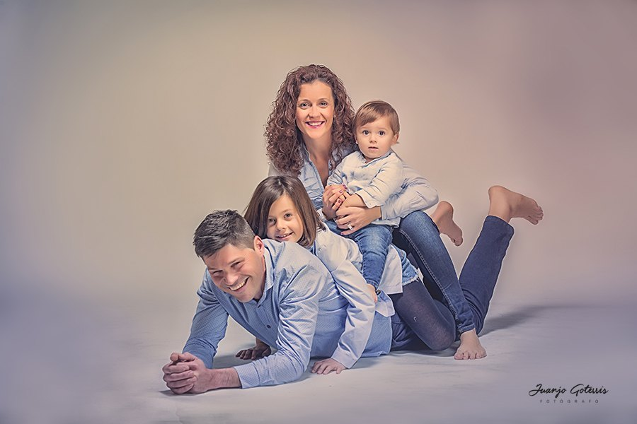 fotos divertidas en familia